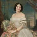 Portrait Of A Lady Sitting Under A Pergola by Edoardo Tofano
