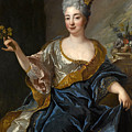Portrait Of A Lady Three-quarter-length Holding Flowers by Francois de Troy