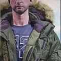 Portrait Of A Mountain Walker. by Harry Robertson