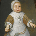 Portrait Of A One-year-old Girl Of The Van Der Burch Family Three-quarter Length by Aelbert Cuyp