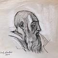 Portrait Of A Phrophet After Michelangelo by Alejandro Lopez-Tasso