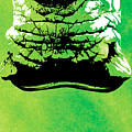 Rhino Animal Decorative Green Poster 8 - By  Diana Van by Diana Van