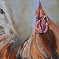 Portrait Of A Rooster by Donna Tuten