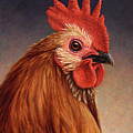 Portrait of a Rooster by James W Johnson