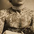 Portrait Of A Tattooed Woman by English School