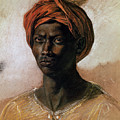 Portrait Of A Turk In A Turban by Ferdinand Victor Eugene Delacroix