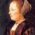 Portrait Of A Woman 1640 by Dou Gerrit