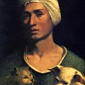 Portrait Of A Young Man With A Dog And A Cat by Dossi Dosso