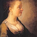 Portrait Of A Young Woman 1640 by Dou Gerrit