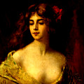 Portrait Of A Young Woman by Angelo Asti