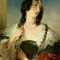 Portrait Of A Young Woman by Edmund Thomas Parris