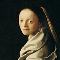 Portrait Of A Young Woman by Jan Vermeer