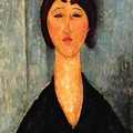 Portrait Of A Young Woman by Modigliani Amedeo
