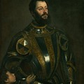 Portrait Of Alfonso D'avalon -  Marquis Of Vasto - In Armor With A Page by Mountain Dreams