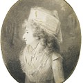Portrait Of An Elegant Lady In Profile, Wearing A Hat by MotionAge Designs