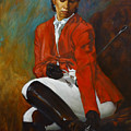 Portrait Of An Equestrian by Harvie Brown
