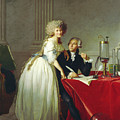 Portrait Of Antoine-laurent Lavoisier And His Wife by Jacques-Louis David