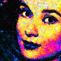 Portrait Of Audrey Hepburn by Zedi