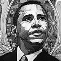 Portrait Of Barak Obama by John Gibbs