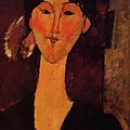 Portrait Of Beatrice Hastings 1915 by Modigliani Amedeo