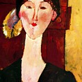 Portrait Of Beatrice Hastings Before A Door 1915 by Modigliani Amedeo