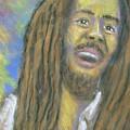 Portrait Of Bob Marley by Jan Gilmore
