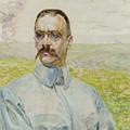 Portrait Of Brigadier Jozef Pilsudski by Jacek Malczewski