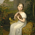 Portrait Of Countess Louise Bose As A Child by August von der Embde