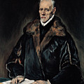 Portrait Of Dr. Francisco De Pisa by El Greco