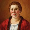Portrait Of Ekaterina Ivanovna Kogan by Ilya Ivanovich Mashkov