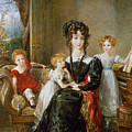 Portrait Of Elizabeth Lea And Her Children by John Constable