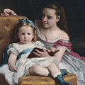 Portrait Of Eva And Frances Johnston by William-Adolphe Bouguereau