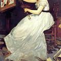 Portrait Of Eva Gonzales 1870 by John Saunders