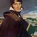 Portrait Of Francois Marius Granet by Ingres Jean Auguste Dominique