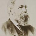 Portrait Of Friedrich Engels by Karl Pinkau