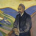 Portrait Of Friedrich Nietzsche by Mountain Dreams