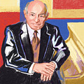 Portrait Of George Wein American Jazz Promoter by Suzanne Cerny