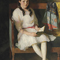 Portrait Of Gertrude Russell by Frank Weston Benson