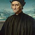 Portrait Of Girolamo Benivieni by Attributed to Ridolfo Ghirlandaio