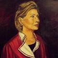 Portrait Of Hillary Clinton by Ricardo Santos-alfonso