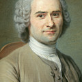 Portrait Of Jean Jacques Rousseau by Maurice Quentin de la Tour
