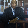 Portrait Of John Lewis by Sylvia Castellanos