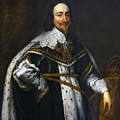 Portrait Of King Charles I After Van Dyck by Peter Barritt