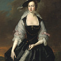 Portrait Of Lady Frances Courtenay by Thomas Hudson