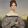 Portrait Of Louise Vernet by Emile Jean Horace Vernet