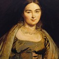 Portrait Of Madame Ingres by Ingres Jean Auguste Dominique