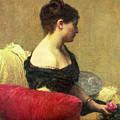 Portrait Of Madame Maitre by Ignace Henri Jean Fantin Latour