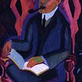 Portrait Of Manfred Schames By Ernst Ludwig Kirchner 1925 by Ernst Ludwig Kirchner