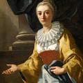 Portrait Of Maria Cavalcanti Ametrano Duchess Of San Donato by Domenico Mondo