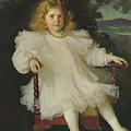 Portrait Of Marjorie Coldwell Westinghouse  by Frank Weston Benson